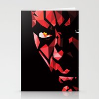 darth Stationery Cards featuring Darth Maul by Roland Banrevi