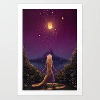 tangled Art Prints featuring Tangled by Westling