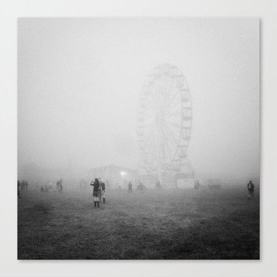 Hazy Ferris Wheel Canvas Print