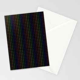 Rows of Rainbow Flowers Stationery Cards