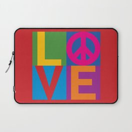 Love Peace Color Blocked Laptop Sleeve