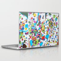 cities Laptop & iPad Skins featuring Sister Cities by theartistmakena