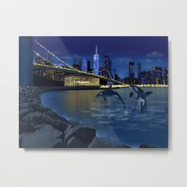 Night city Metal Print