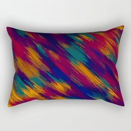 blue green orange and red splash painting abstract background Rectangular Pillow