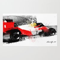 senna Area & Throw Rugs featuring AYRTON SENNA MP4-4 by Michele Leonello