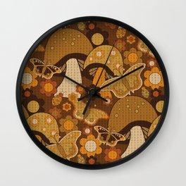 Mushroom Stitch Wall Clock