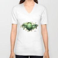 yoda V-neck T-shirts featuring Yoda by Rene Alberto