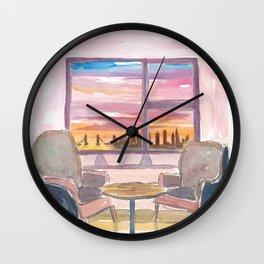 Cozy Panorama Window To London UK Wall Clock