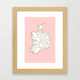 Ireland map Framed Art Print