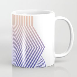 Minimal geometric stripes modern Coffee Mug