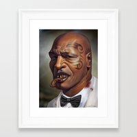 "mike tyson Framed Art Prints featuring Mike Tyson ""Punched OUT"" by Joel Stieber"