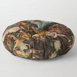 """Pieter Bruegel (also Brueghel or Breughel) the Elder """"The Fall of the Rebel Angels"""" Floor Pillow"""