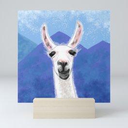 Llama Yama Smiling Mini Art Print