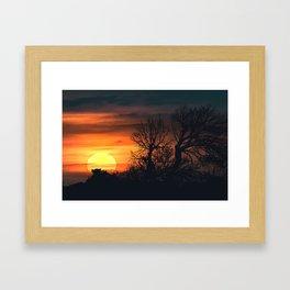 Sunset at Nature Landscape Scene Framed Art Print