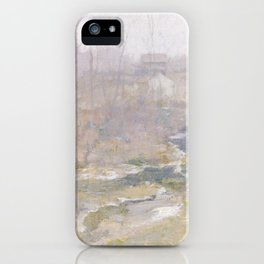 Misty Creek Painting iPhone Case