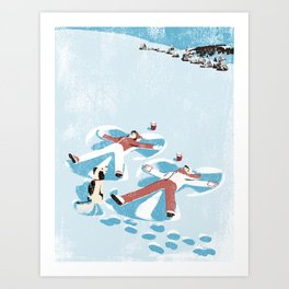 Snow Angels Art Print
