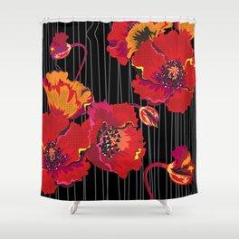 Poppy variation 10 Shower Curtain