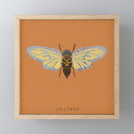 Moth,  Insect drawing by Eau de Papier Illustration Studio and Design Framed Mini Art Print