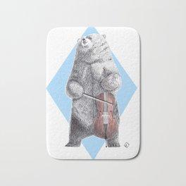 Cellist bear Bath Mat
