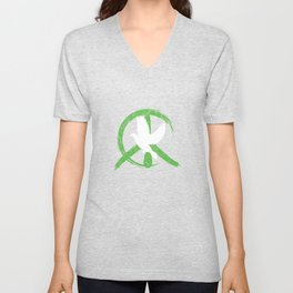 Peaceful Dove Harmony Purity Pure Love Peace Sign Freedom Gift Unisex V-Neck