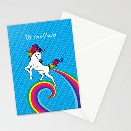 Unicorn Power with Rainbow Stationery Cards