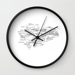 CityStations - London Tube. Minimalist map Wall Clock