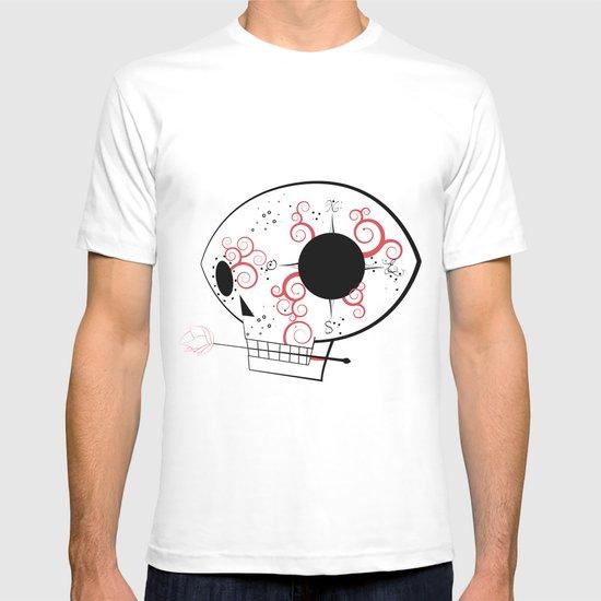 minimal skull 2 T-shirt