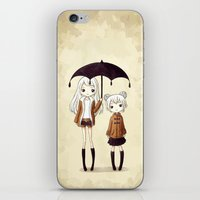 sisters iPhone & iPod Skins featuring Sisters by Freeminds