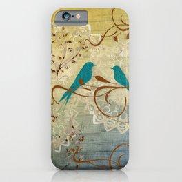 Bleu Birds iPhone Case