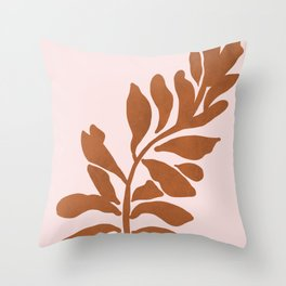 Single stem - desert pink Throw Pillow