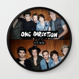 """One direction """"four"""" album cover Wall Clock"""
