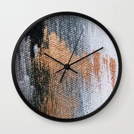 Rose Gold Dream - Abstract Oil Painting Wall Clock