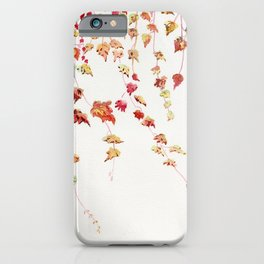 Vines Watercolor iPhone Case