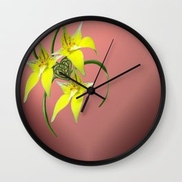 Cowslip Orchid Love Celtic Knotwork Heart Wall Clock