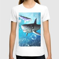 shark T-shirts featuring Shark by nicky2342