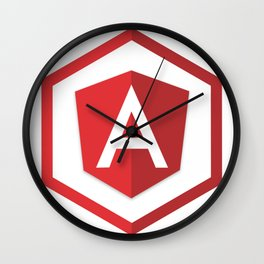 angularjs developer angular.js framework logo sticker Wall Clock