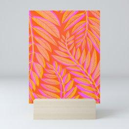 Hot Tropics II - Vertical Pink Orange Palette Mini Art Print