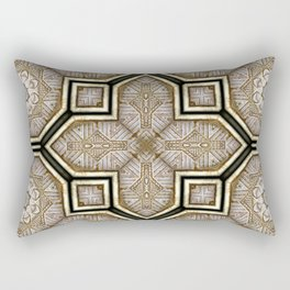 Victorian Art Deco Medieval Pattern gray SB18 Rectangular Pillow