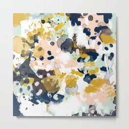Sloane - abstract painting gender neutral baby nursery dorm college decor Metal Print