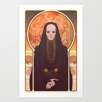 heymonster Art Prints featuring Reverend Mother by heymonster