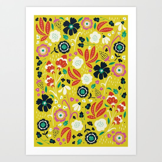 Flourishing Florals Art Print