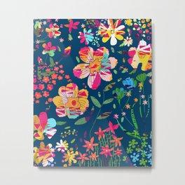 Paper Floral Metal Print