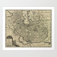 Persia Ancient Map 1747 Art Print