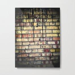 Tar on Brick Metal Print