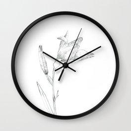 A flower of flour Wall Clock