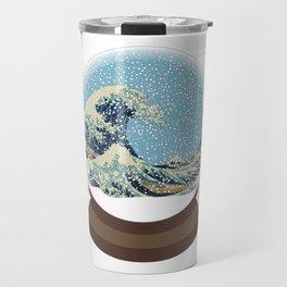 The Great Wave Snow Globe Travel Mug