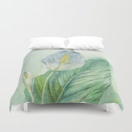 Peace Lily Duvet Cover