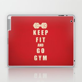 Keep Fit and Go GYM Quote Laptop & iPad Skin