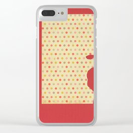 Red Sheep Clear iPhone Case