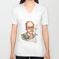 hunter s thompson V-neck T-shirts featuring Hunter S Thompson - Quote by Sally Ridge